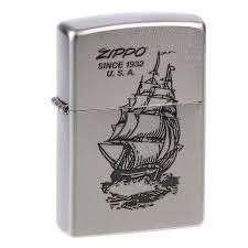 <b>Зажигалка ZIPPO Boat-ZIPPO</b> Satin Chrome