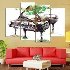 <b>4 Panel</b> Abstract Piano <b>Canvas Art</b> - Enjoy <b>Canvas</b>