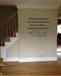 what lies behind us... emerson inspirational <b>vinyl wall decal</b> ...