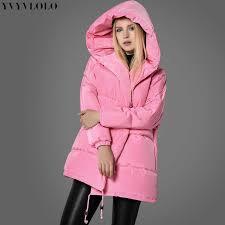 YVYVLOLO Women's Winter Jacket Pink girl coat <b>2019 New fashion</b> ...