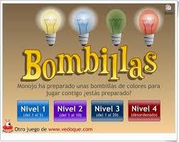 Resultado de imagen de JUEGO BOMBILLAS ONLINE