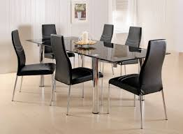 faux leather dining chair black: round glass kitchen table ivory tufted faux leather dining chairs red kitchen cutlery brown glass flower
