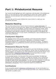 resume for phlebotomist template phlebotomist cover letter