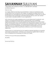 More HR Coordinator Cover Letter Examples LiveCareer