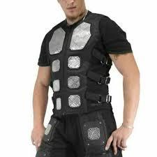 Diamond-Plate Metal Cyber Bodice <b>Sabaton Vest</b> Joakim Brodén ...