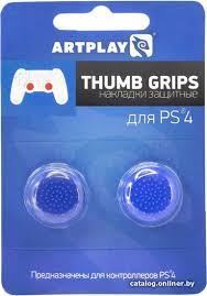<b>Artplays Thumb</b> Grips для PS4 (2 шт., синий) <b>накладки</b> для стиков ...