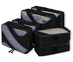 Bagail 6 Set <b>Packing Cubes</b>,3 Various Sizes <b>Travel Luggage</b> ...