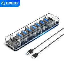 <b>ORICO</b> Transparent HUB High Speed <b>4/7 Ports USB</b> 3.0 HUB ...