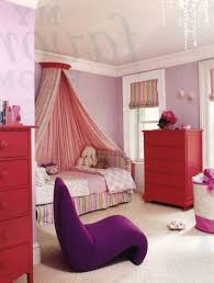 red and purple bedroom