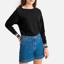 """Пуловер с рукавами """"летучая мышь"""" и вырезом-лодочка черный ..."""