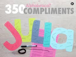 350 alphabetical compliments the mormon home 350 alphabetical compliments