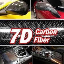 <b>High Quality 7D</b> High Glossy Carbon Fiber Vinyl Film Car Styling ...