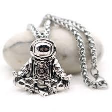 Astronaut <b>Pendant Necklace</b> Galaxy Universe Spaceman Meditation ...