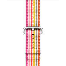 <b>Ремешок Apple</b> 42mm Pink Stripe Woven <b>Nylon</b> - характеристики ...