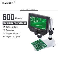 "UANME Digital Video Microscope 600X 4.3"" 3.6MP LED Magnifier ..."