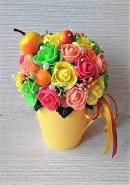 Топиарий - <b>кружка со съемным</b> цветочным декором. – купить в ...