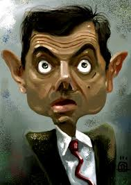 Image result for caricature of mr. bean
