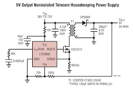 ltc constant frequency current mode flyback dc dc controller ltc3803 typical application