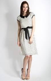 Sunday Best <b>Modest</b> Dress in Egret/Black Polka Dot | <b>Modest</b> ...