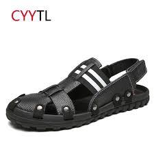Rubber 903 Mens Sandals <b>CYYTL Leather</b> Sandals Men 2019 ...