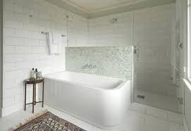 bathroom white tiles: blue amp white tile bathroom traditional bathroom