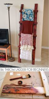 rustic style living room clever: even a total beginner can make this simple rustic throw ladder for about