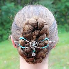 Gorgeous Braided Bun with <b>Dream Catcher</b> Flexi clip | Unique <b>hair</b> ...