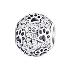<b>Cat</b> Dog Paw <b>Print Animal</b> 925 Sterling Silver Charms Fit Bracelets ...
