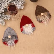 Cute Waterdrop <b>Shape Forester Christmas</b> Hat Tableware Knife ...