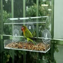 Акриловая <b>прозрачная</b> оконная <b>кормушка для птиц</b> для ...