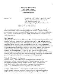 elements essay