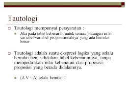 Image result for gambar tautologi