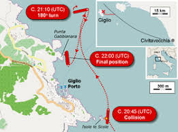 「コスタ・コンコルディアの座礁事故」の画像検索結果