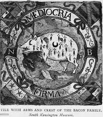 22 jan english statesman and essayist francis bacon born photos circa 1600 the arms and crest of the bacon family the motto translates as