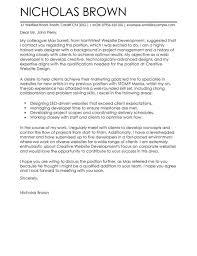 web developer cover letter examples for it   livecareer