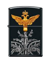 <b>Зажигалка</b> двуглавый орёл <b>ZIPPO</b> 218 <b>RUSSIAN COAT OF ARMS</b> ...