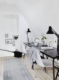 1000 ideas about white office on pinterest desks office chairs and offices black white home office study