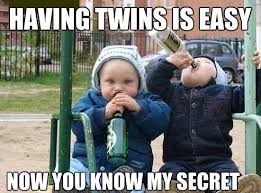 Twins on Pinterest | Twin Humor, Twin and Twin Girls via Relatably.com