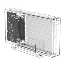 <b>Transparent Series</b> Dual-Bay Hard Drive Enclosure (2259U3) - <b>ORICO</b>