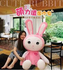 <b>WYZHY Cute</b> Long Ears Rabbit Plush Toy Scarf Love Rabbit Pillow ...