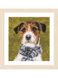 """<b>Набор для вышивания Lanarte</b> """"Собака с шарфом"""" 28*29 см ..."""