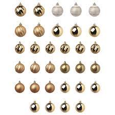 ВИНТЕРФЕСТ <b>Набор елочных шаров</b>, <b>32</b> шт. - белый/золотой ...