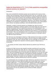 Conclusion de dissertation philosophique