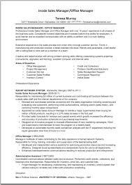 Sales Account Manager Resume  regional account executive resumes     happytom co Inside Sales Manager and Office Manager Resume Template   Great       sales account