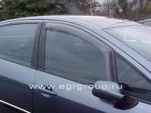 <b>Дефлекторы боковых окон Peugeot</b> 407 2004-2010 дымчатые, 2 ...