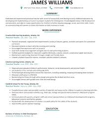 preschool teacher resume sample resumelift com