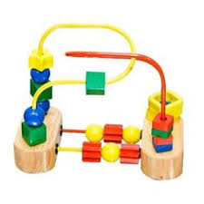 Kids <b>Wooden Montessori Educational</b> Toy Fruit Insect Around Beads ...