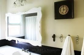 wood bathroom mirror digihome weathered: bathroom wooden framed rectangular mirror for bathroom mirror