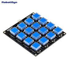 Интернет-магазин Кнопочный модуль клавиатуры 4x4. Один ...