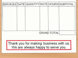 how to make an invoice sample invoices wikihow